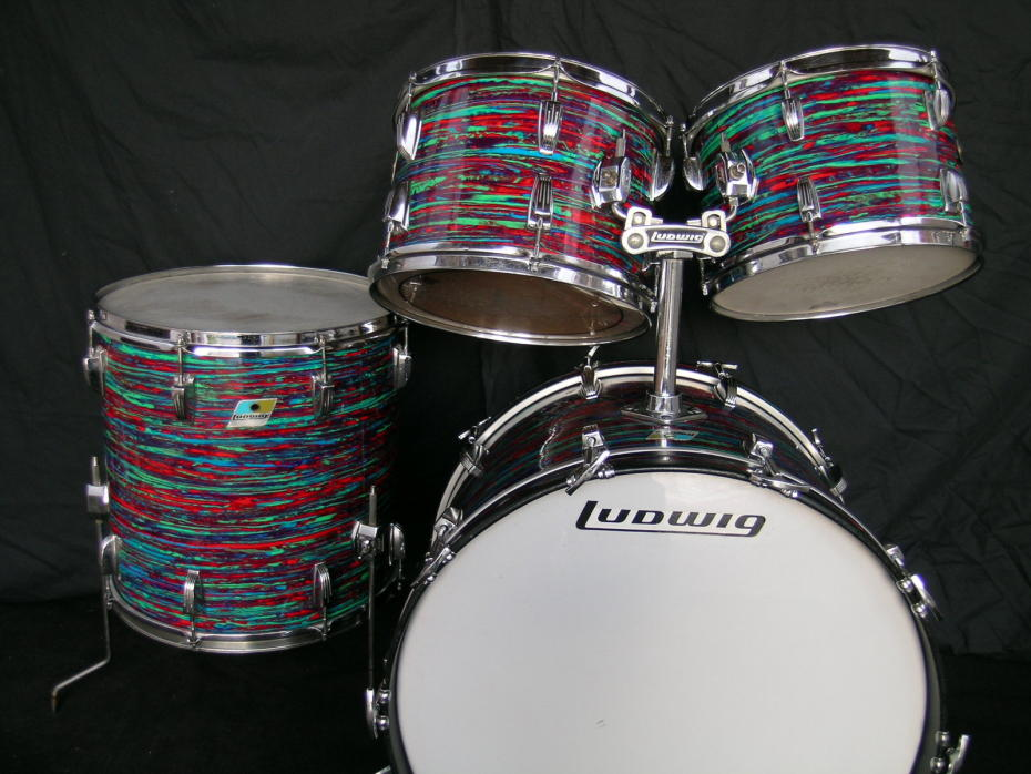 LUDWIG Big Beat 1970 Psychedelic Red