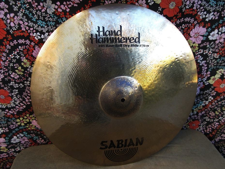 """SABIAN HH 21"""" Raw Bell Dry Ride Brilliant. Used."""