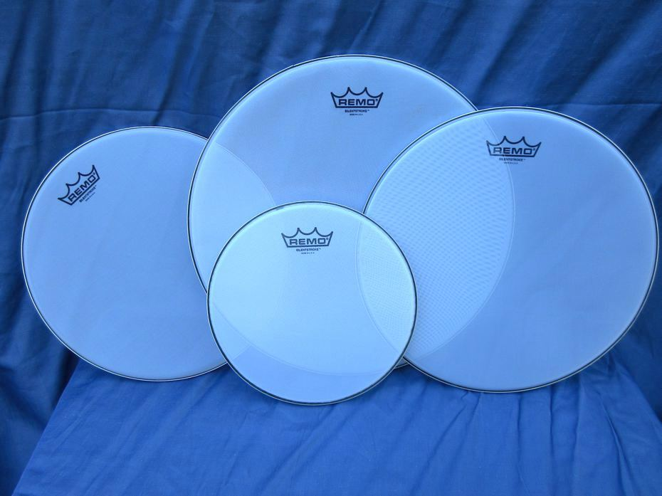 REMO Silentstroke, mesh drumheads.