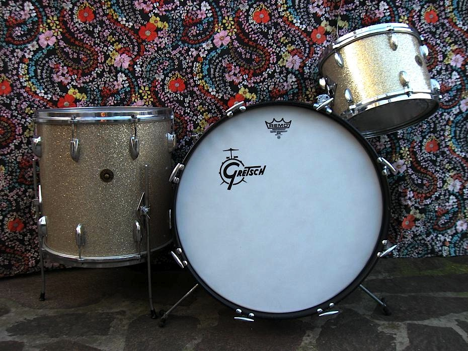GRETSCH Name Band PX-4015 Sparkling Silver 1964